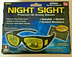 Night Sight Polarized HD Driving Glasses Reduces Glare As Seen On TV New openbox