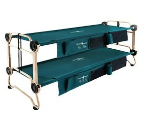 Disc-O-Bed Large with Side Organizers and Rubber Foot Pads Camping Cot Bunk
