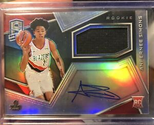 2018-2019 Panini Spectra Anfernee Simons RPA Rookie Patch Autograph 52/299 RPA
