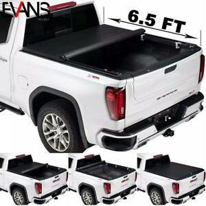 New Tri-Fold Soft Tonneau Cover fits 07-18 GMC Sierra 1500 2500 78In/6.5 ft Bed