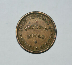 24. CIVIL WAR TOKEN: JOHN THOMAS Jr / PREMIUM MILLS SPICES, COFFEE, ALBANY NY