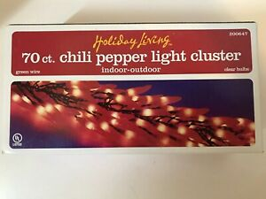 Holiday Living 70 ct. Chili Pepper Light Cluster
