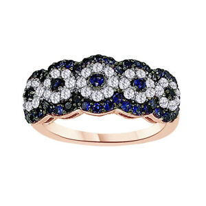 Cyber Monday sapphire Wedding Engagement Ring 18K Rose Gold Plated