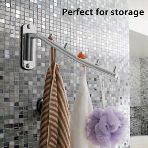 Folding Wall Mounted Clothes Hanger Rack Clothes Hook Stainless Steel with S W91