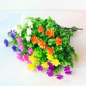 US Artificial Flowers Fake Plant Outdoor Floral Greenery Shrubs BUY 2 GET 2 FREE