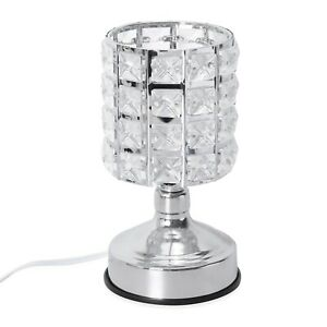 Home Room Office Table Decor Gift Stage Touch Dimmer Glass Shape Desk Table Lamp