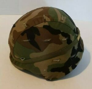 US ARMY PASGT GROUND TROOP HELMET MADE WITH KEVLAR & CAMO COVER  S-3
