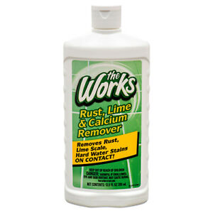 The Works Rust, Lime & Calcium Remover 13.5 oz Removes Hard Water Stains