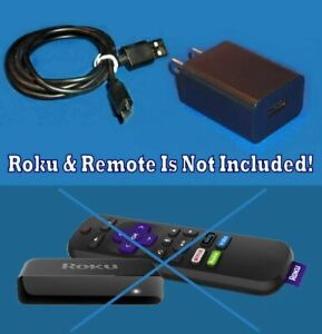 Ships Free Wall Charger + USB Cable FOR Roku 3500 3800 3810 Roku Streaming Stick
