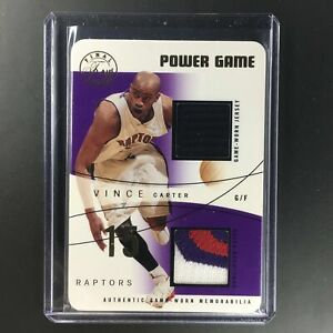 2004 Fleer Flair VINCE CARTER Power Game Dual Patch 13