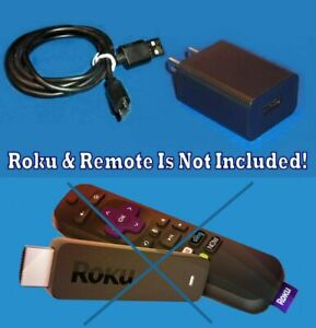 Power Supply Wall Charger + USB Cable For Chromecast Roku 3600 R Streaming Stick