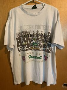 Vintage Notre Dame College Football Anniversary 1887 1994 T Shirt Size XL USA $44.50