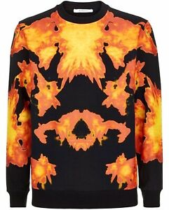 GIVENCHY⚡️Kaleidoscope flame asymmetric geometric sweater jumper size Large