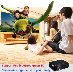 Mini 1080P Full HD LED LCD Projector Home Theater Cinema 3D HDMI Multimedia WB1