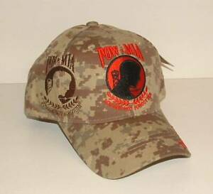 POW/MIA Desert Camouflage *Chip* Embroidered Licensed Military Ball Cap/Hat.