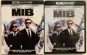 MEN IN BLACK INTERNATIONAL 4K ULTRA HD BLU RAY 2 DISC SET + SLIPCOVER SLEEVE BUY
