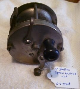VINTAGE 4 BROTHERS SPECIAL 42 250YD REEL 09 05 19P GOOD CLICKER $31.45