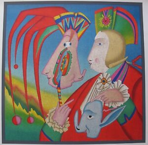 MIHAIL CHEMIAKIN CARNIVAL MASK ST PETERSBURG 1995 Large Unsigned Lithograph Art $119.99