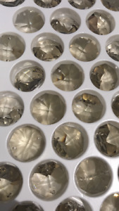 Box of 368 - 24MM Honey Asfour Crystal Lead Beads 1080 Octagon 2 Hole Chandelier