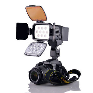 Professional 10-LED Video Light Camera Camcorder Photography Lamp VL001A+