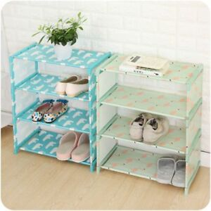 Shoe Rack DIY Storage Cabinet Shelf 3 4 Layers Home Hall Organizer Oxford Cloth $26.52
