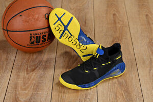 Men's Dark Blue Yellow Under Armour Curry 6 Training Basketball Shoes US7-US12