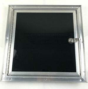 Black Fuel Door for ATV and Snowmobile Trailers - 14