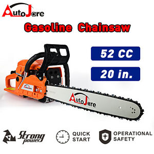 20quot; 52CC Bar Gas Chainsaw Wood Cutting tool 2 cycle Powered Aluminum Crankcase $91.20