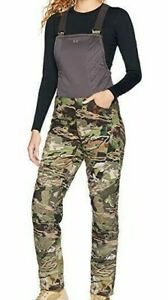 Under Armour Women's Brow Tine Forest Camo Hunting Bibs Size Medium