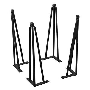 Home Soft Things Serenta Hairpin Table Legs 4 Piece Set, 6