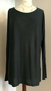 NEW! VINCE WOMEN'S BALLET T-NECK LONG SLEEVE KNIT TOP SHIRT TUNIC SIZE LARGE