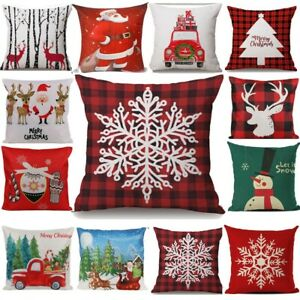 2pcs Christmas Theme Cushion Covers 18