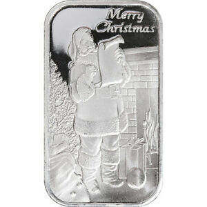 1oz Santa's List Silver Bar