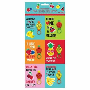 Fruit Valentine Cards w/Bubble Ring