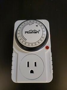 BN-LINK 24 Hour Plug-in Mechanical Timer Grounded, Accurate Heavy Duty, 3-Prong