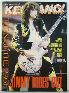 Led Zeppelin Jimmy Page Signed Autographed Guitar Magazine (June 1988 Ed.)