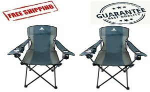 Ozark Trail Over sized Tailgate Quad Folding Camp Chair Blue Cove - 2 PACK