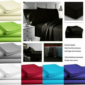 Egyptian comfort Flat Sheet Ultimate 1900 Series soft amp; Wrinkle Free Bed top
