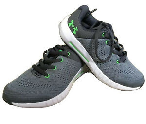 New Under Armour Pursuit Micro G PS Little Boys Grey & GRN US 11 Athletic Shoe $29.99