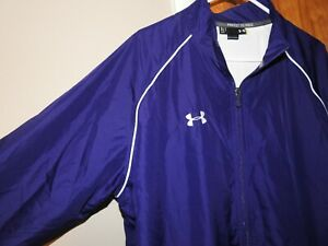 Under Armour Track Windbreaker Jacket Purple Mens Size Extra Large XLT