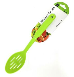 Colorful Nylon Slotted Spoon Serving variety of foods Home Kitchen and Dining