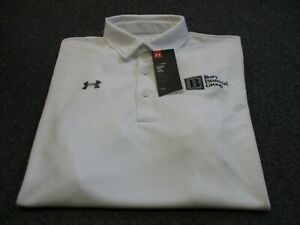 NEW NWT MENS UNDER ARMOUR HEAT GEAR LOOSE POLO SHIRT SIZE L LARGE