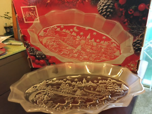 Sweet Dish Silent Night Mikasa Oval Serving Plate 12