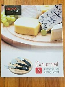 Cheese Board Gourmet Chef 5 piece Set amp; Cutting Board