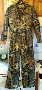 RED HEAD SILENT HIDE CAMO. HUNTING COVERALL YOUTH SZ. 12 THERMOLITE BASS PRO