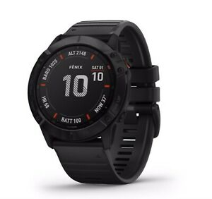 Newest Garmin fenix 6X Pro GPS Multisport Watch 51mm - Black with Black Band