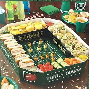 Football Party Food Snack Server Tray Game Day Stadium Play-Offs Decoration New