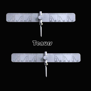 2XDental implant guide set tooth Angle Measuring ruler tool calipers With scale