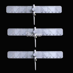 3XDental implant guide set tooth Angle Measuring ruler tool calipers With scale