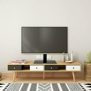 TV Stand Base with Mount Swivel Height Adjustable for Flat Screen 32